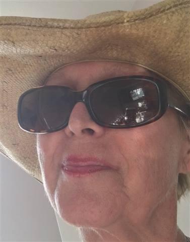 ValleyHorseWoman - In my garden hat!