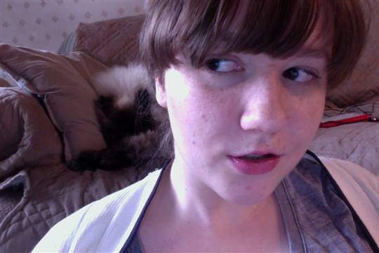 ScaredyKat - My cat and me. I'm a cat person.