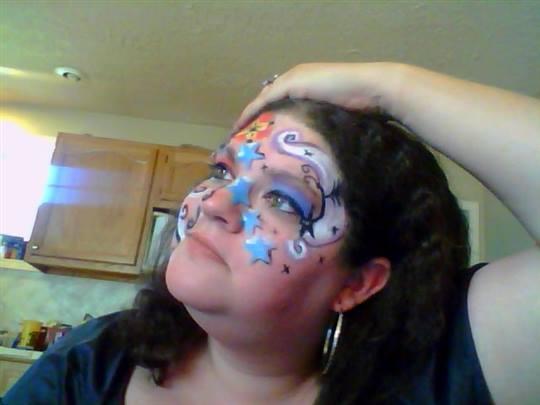 LovestoLaugh - My sister drew on my face. lol